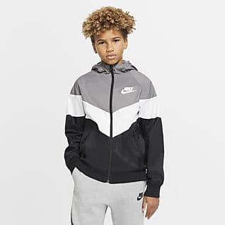 Nike Sportswear Windrunner Bunda pro větší děti