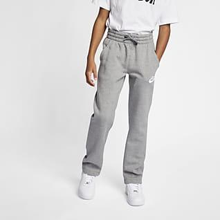 Nike Sportswear Club Fleece Pantalones con dobladillo abierto para niños talla grande