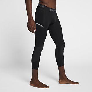 Nike Pro Dri-FIT Мужские баскетбольные тайтсы длиной 3/4