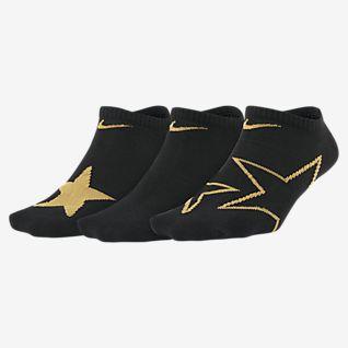 Nike Everyday ถุงเท้าลายกราฟิกเด็กโตแบบซ่อน (3 คู่)