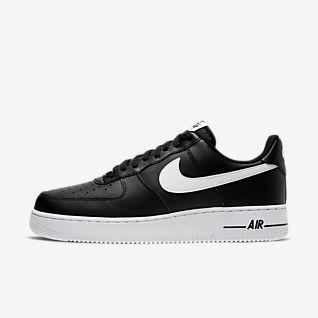 Män Svart Air Force 1 Lågt skaft Skor. Nike SE