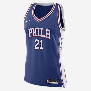 Joel Embiid 76ers Icon Edition Women's Nike NBA Swingman Jersey