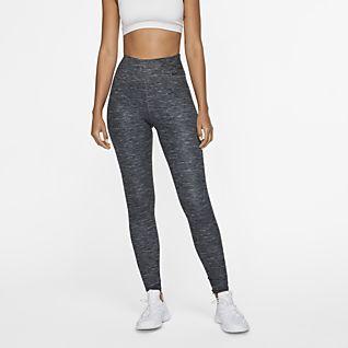 Nike One Luxe Mallas jaspeadas de tiro medio para mujer