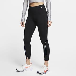 Nike Speed Женские слегка укороченные беговые леггинсы со средней посадкой