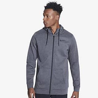 Nike Therma Træningshættetrøje med lynlås til mænd