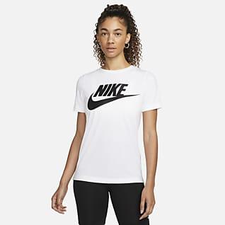 Nike Sportswear Camo Damen-Kurzarm-Oberteil mit Logo