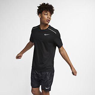 Nike Rise 365 Kortärmad löpartröja för män