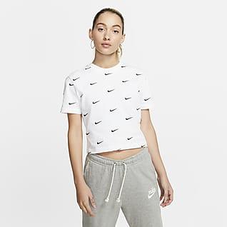 Nike Tee-shirt à logo Swoosh pour Femme