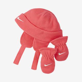 Nike Conjunto de gorro y mitones para bebé
