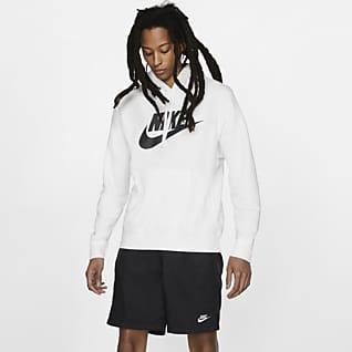 Nike Sportswear Club Fleece Huvtröja med tryck för män