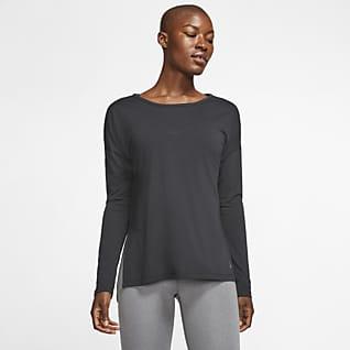 Nike Dri-FIT Yoga Женская футболка с длинным рукавом для тренинга
