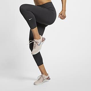 Nike One Kort leggings med mellomhøyt liv til dame