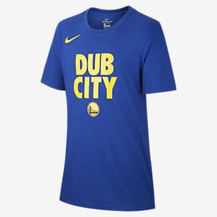Golden State Warriors Nike Dri-FIT T-shirt dla chłopców NBA
