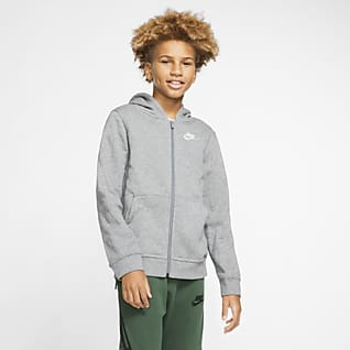 Nike Sportswear Club Older Kids' Full-Zip Hoodie