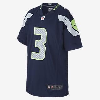 NFL Seattle Seahawks Game Jersey (Russell Wilson) American footballjersey voor kids