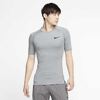 Nike Pro Мужская футболка с плотной посадкой и коротким рукавом