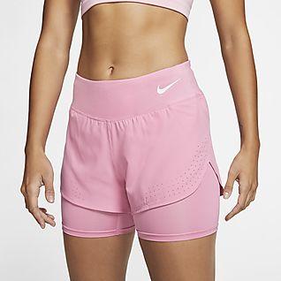 Hot Pink Retro Shorts w// Orange Trim Small