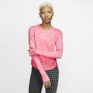 jasnoróżowa koszulka damska Nike Yoga Training NIKE różowe
