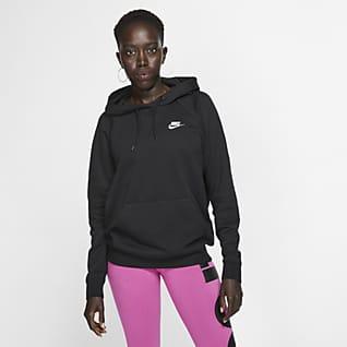 Nike Sportswear Essential Felpa pullover in fleece con cappuccio - Donna