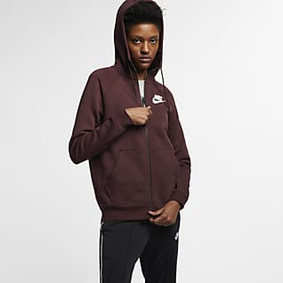 Nike Sportswear Rally Felpa con cappuccio e zip a tutta lunghezza - Donna