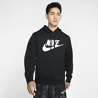 Nike Sportswear Club Fleece Pánská mikina s kapucí a potiskem