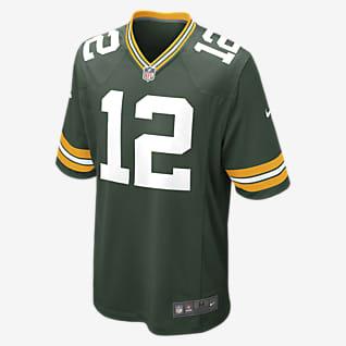 Camiseta de manga larga NFL Green Bay Packers Game (Aaron Rodgers) Camiseta de fútbol americano para niños