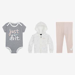 Nike Baby (0-9M) Hoodie, Bodysuit and Leggings Set