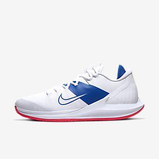 Nike Air Zoom Resistance Allcourt sko Damer Hvid, Blå køb