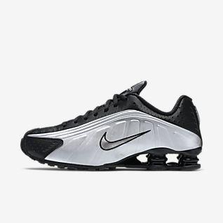 nike huarache black new, Nike Shox R4 Mænd Sko Hvid Blå,nike