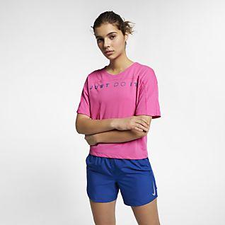 Nike Dri-FIT Miler Haut de running à manches courtes pour Femme