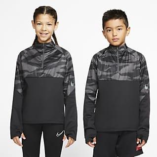 Nike Therma Shield Strike Ποδοσφαιρική μπλούζα προπόνησης για μεγάλα παιδιά