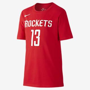 Nike Icon NBA Rockets (Harden) T-Shirt μπάσκετ για μεγάλα αγόρια