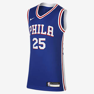 Icon Edition Swingman Jersey (Philadelphia 76ers) Nike NBA-trøje til store børn