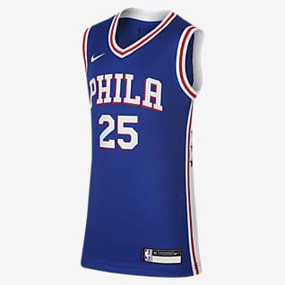 Icon Edition Swingman Jersey (Philadelphia 76ers) Koszulka dla dużych dzieci Nike NBA