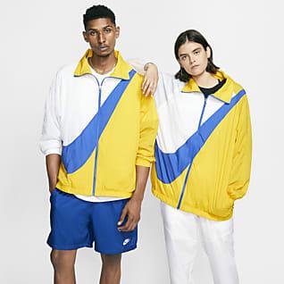 Nike Sportswear Chamarra tejida para mujer Swoosh