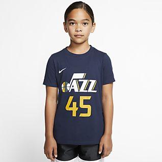 Donovan Mitchell Jazz Icon Edition Big Kids' Nike NBA T-Shirt