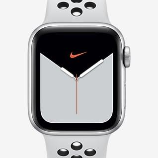 Apple Watch Nike Series 5(GPS + 蜂窝网络)搭配 Nike Sport Band 40 毫米银色铝金属表壳