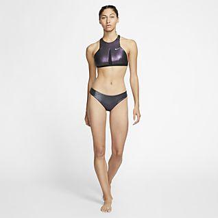Nike Onyx Flash Parte de abajo de bikini de natación reversible - Mujer