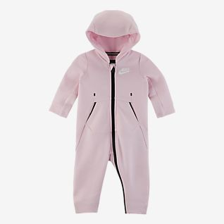 Nike Sportswear Tech Fleece Heldragt med lynlås til babyer (0-9 mdr.)