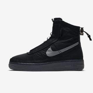 Black Air Force 1 Shoes. Nike PT