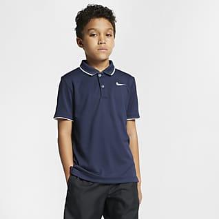 NikeCourt Dri-FIT Tennisskjorte til store barn (gutt)