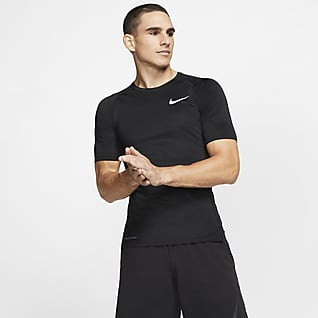 Nike Pro Kortærmet overdel med tætsiddende pasform til mænd