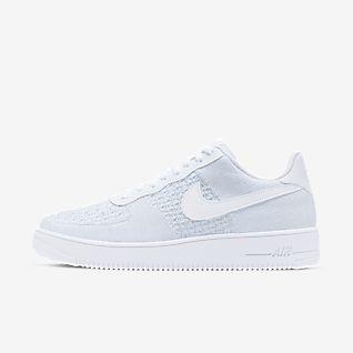 Homem Branco Air Force 1 Perfil baixo Sapatilhas. Nike PT