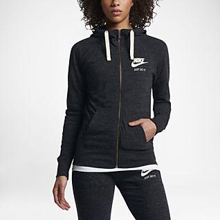 Nike Sportswear Gym Vintage Huvtröja med hellång dragkedja för kvinnor