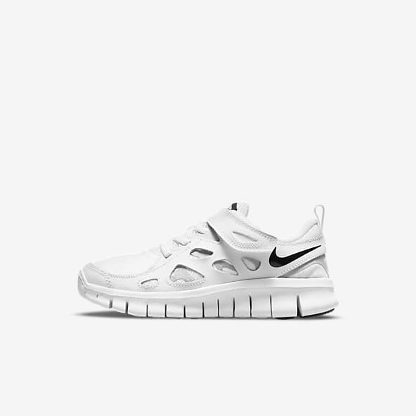 White Nike Free RN Shoes. Nike.com
