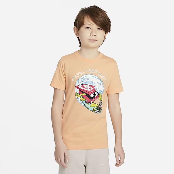 Nature Porter Youth Kids Short Sleeve G-Amer Flame Printed T-Shirt Crewneck Shirt Short Sleeve