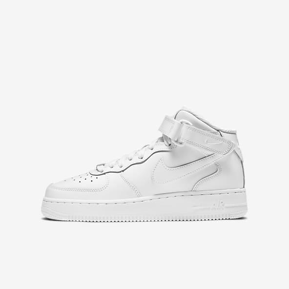 Garçons Blanc Air Force 1 Chaussure mi-montante Chaussures. Nike FR