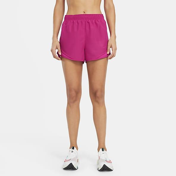 Hot Pink and Abstract Blue Print Pocket Sports Shorts