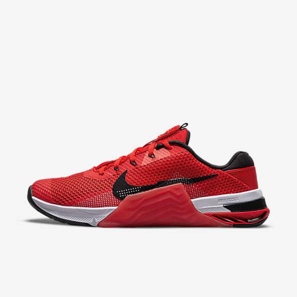 Hommes Rouge Chaussures. Nike LU