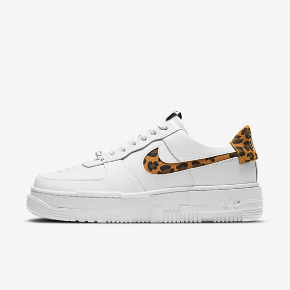 air force 1 donna nike bianca e oro
